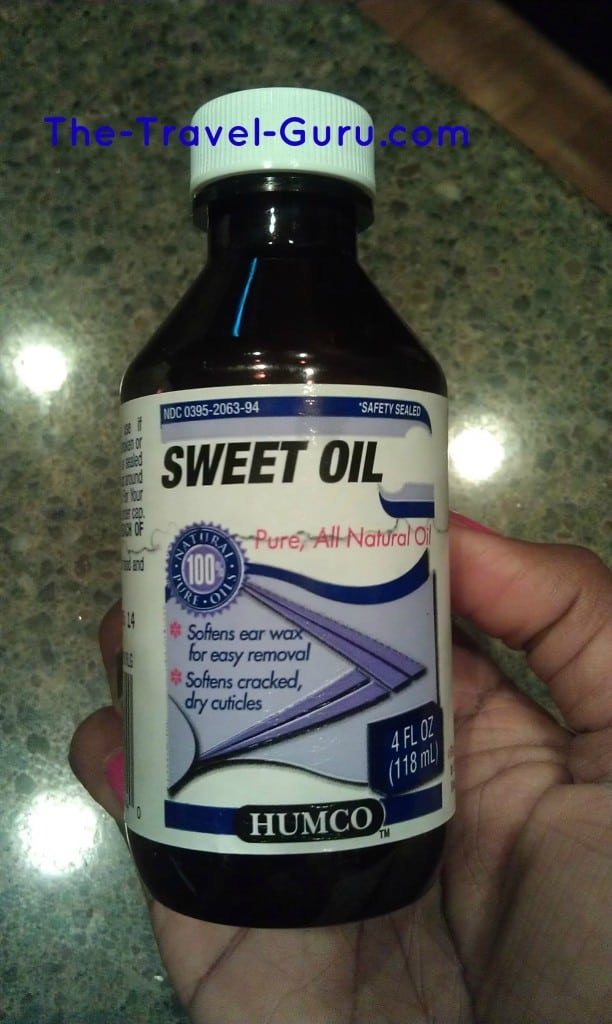 Sweet oil, natural things you can do if you get sick on vacation