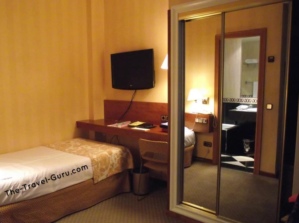 European hotel rooms