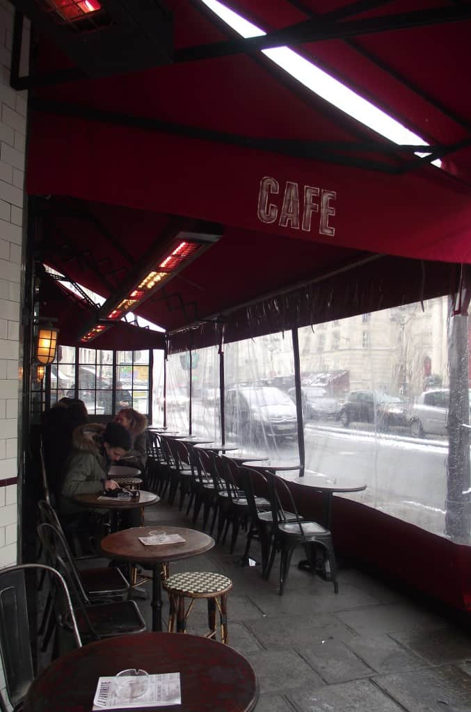 Sidewalk cafe in Paris