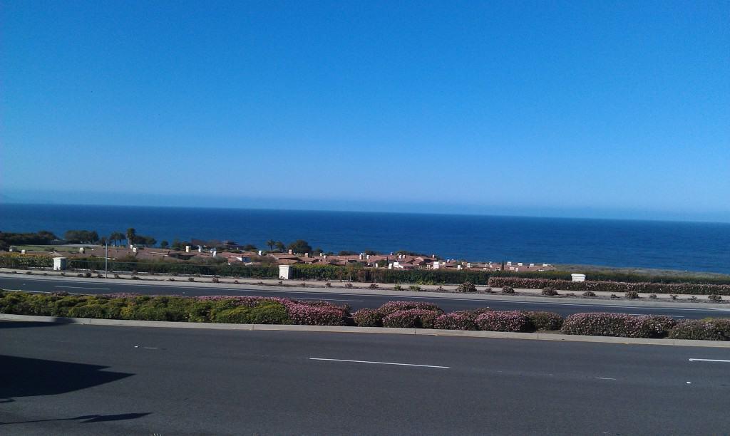 Ocean view from Starbucks