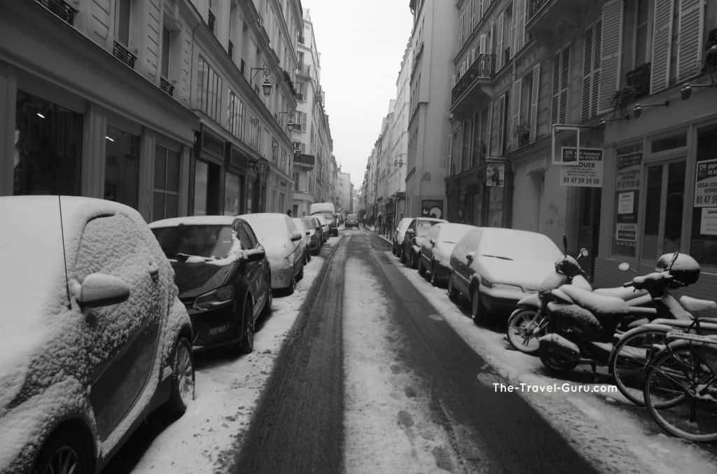 Dos it snow in Paris