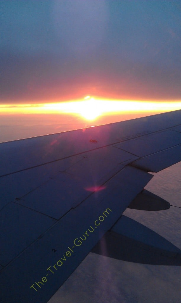 sunrise from the sky