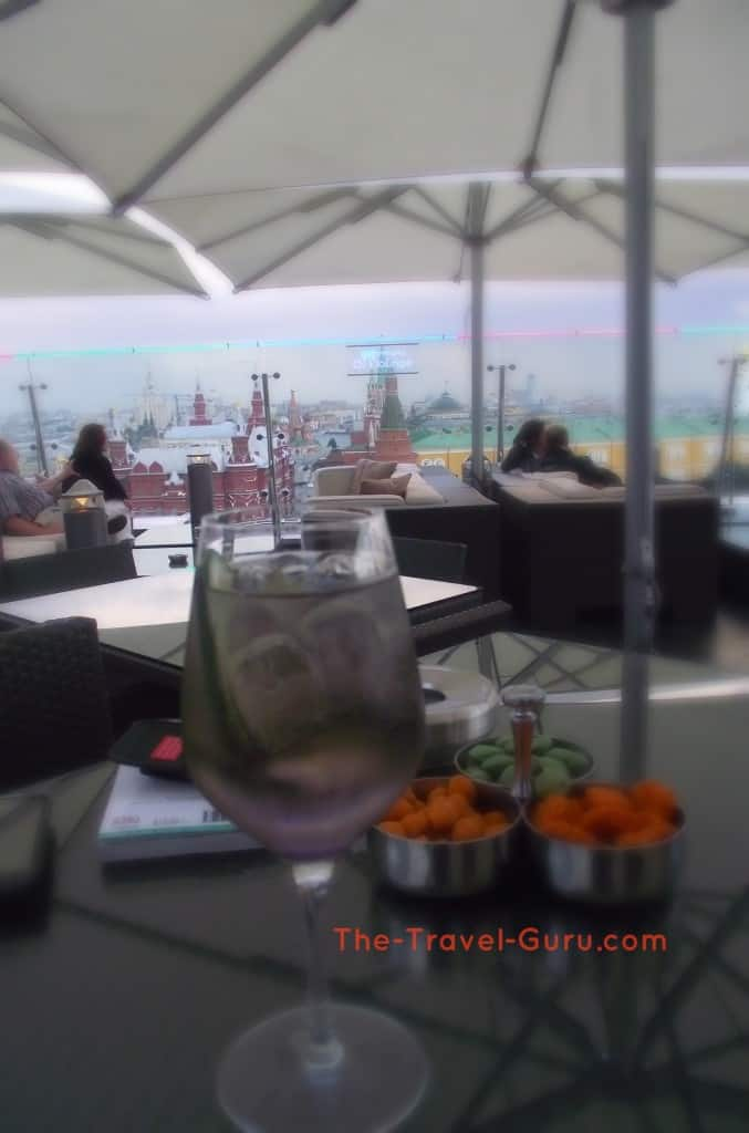 Rooftop bar Ritz Carlton Moscow