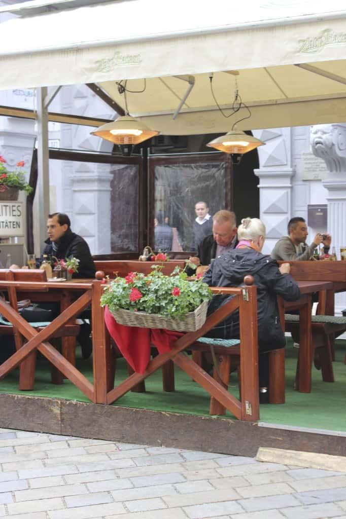 dining outside Bratislava