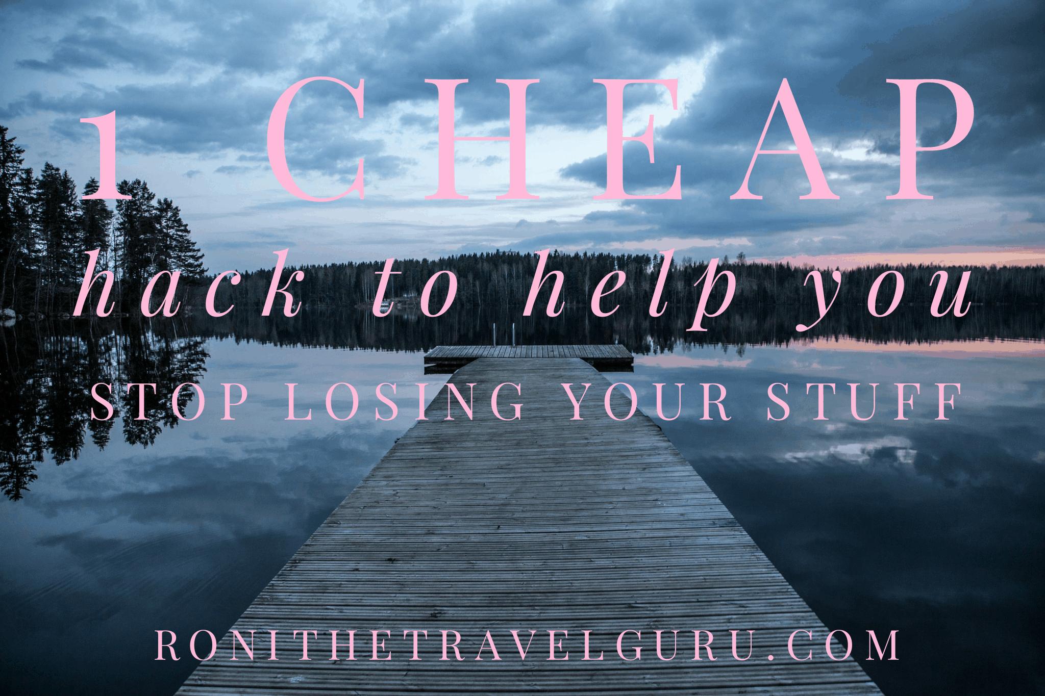 stop losing stuff traveling