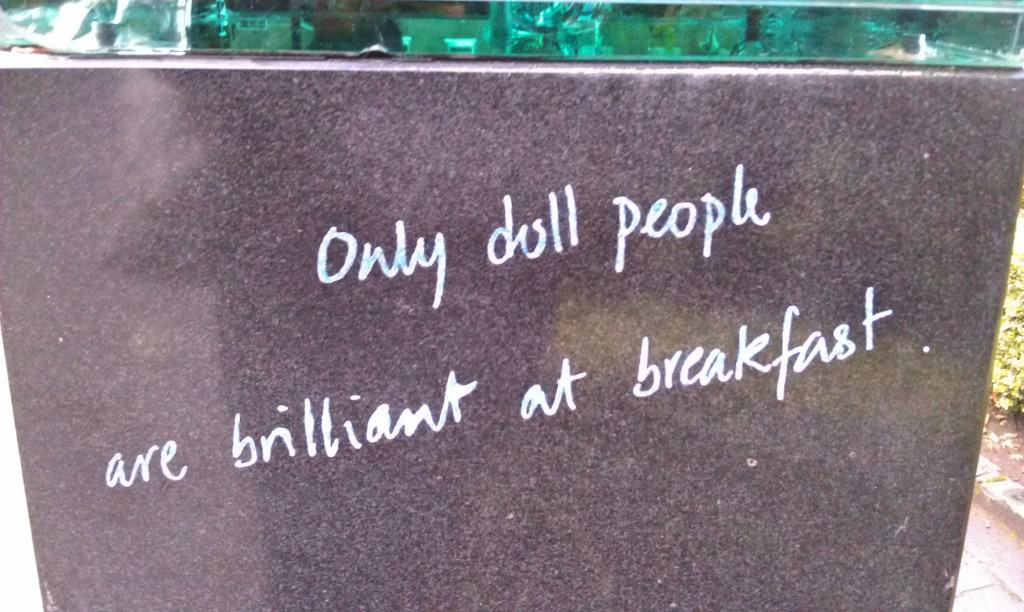 Oscar Wilde quote in Merrion Square