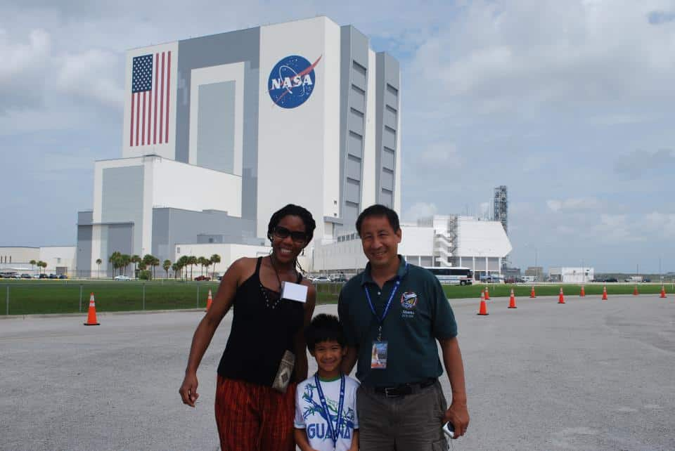 Astronaut Ed Lu & his son Alex