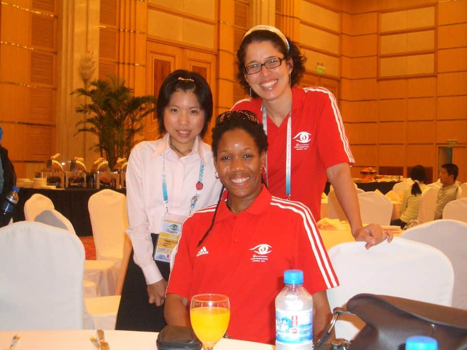 Chillaxing at Special Olympics w colleagues