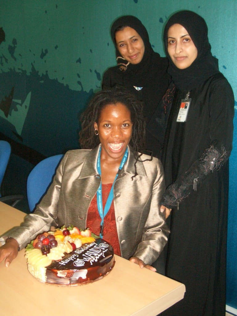 Wandi's Birthday cake with Eman and Dana