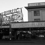 Pike Place Market In Black And White – Seattle, Washington