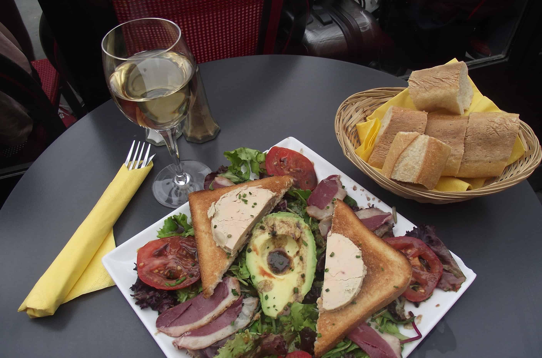 Parisian salad is sublime