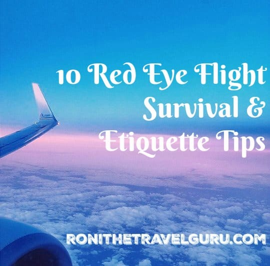 red eye flight survival and etiquette tips