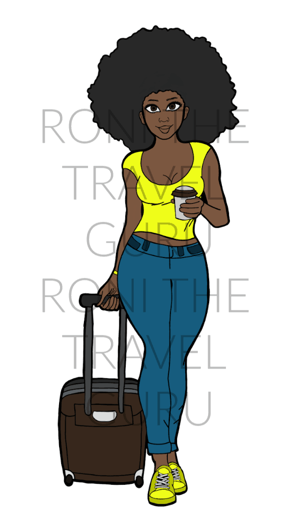 Black Girl Digital Art - Afro, dark skin, yellow shirt