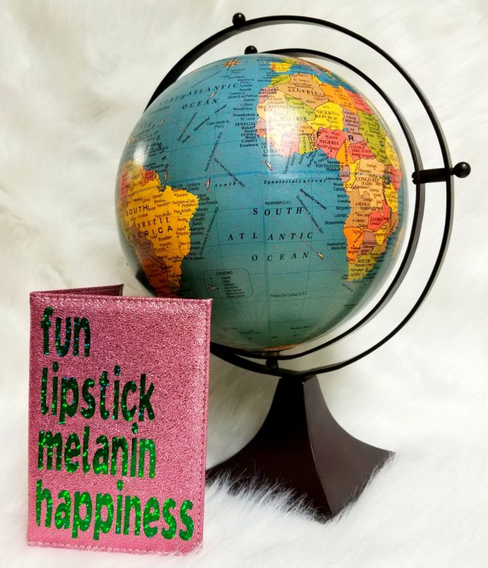fun lipstick melanin happiness passport cover