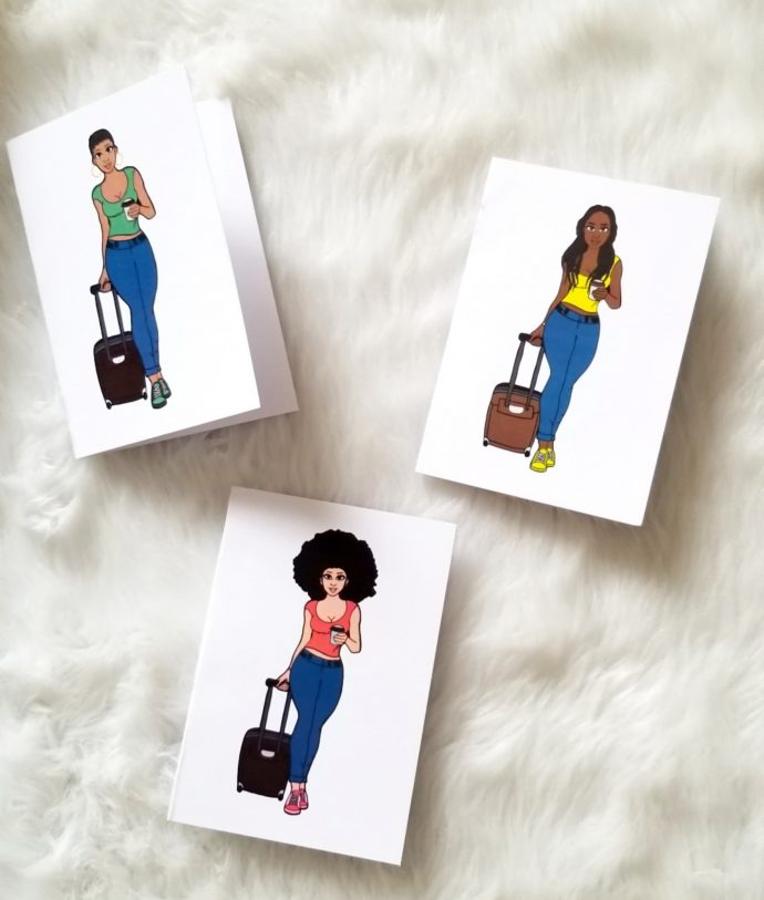 Traveling Sistahs Note Cards